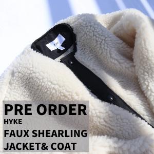 ≪追加予約受付中!≫HYKE FAUX SHEARLING JACKET& COAT