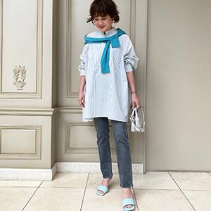 """【ブログリレー】第1回「""""デニム""""を着るならこんなふうに」#骨格ストレート#スプリング"""