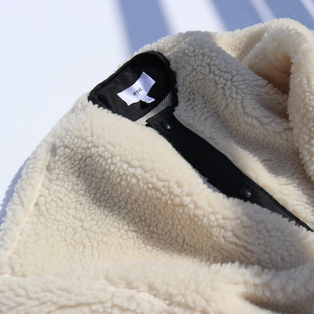 身長別にサイズ比較★HYKEの名品ボアジャケット&ボアコートが今年も入荷!